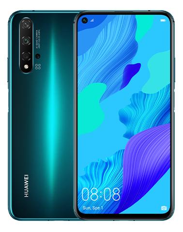 Huawei Nova 5T Dual Sim 128GB Green (8GB RAM) + FREE Tempered Glass Screen Protector