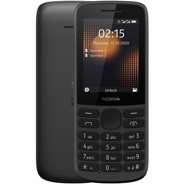 Nokia 215 4G Dual Sim 128MB Black (64MB RAM)