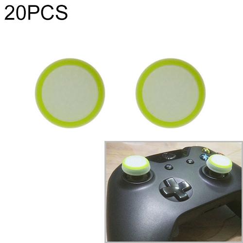 20 PCS Luminous Silicone Protective Cover for PS4 / PS3 / PS2 / XBOX360 / XBOXONE / WIIU Gamepad Joystick (Green)