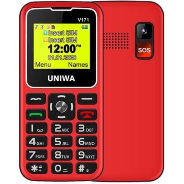 UNIWA V171 2G Dual Sim Mobile Phone Red