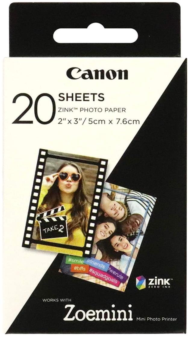 Canon ZP-2030-20 Zink Photo Paper (20 sheets)