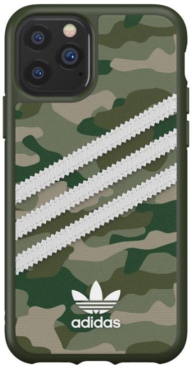 Adidas iPhone 11 Pro 3-Stripes Snap Phone Case Camo Green/White