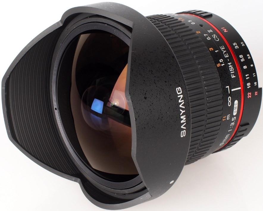 Samyang AE 8mm f/3.5 Fish-eye CS II w/hood (Nikon)
