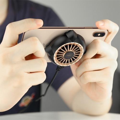ROCK Sucker Mobile Phone Heat Dissipation Cooling Fan(Black Gold)