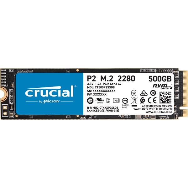 Crucial P2 Nvme M.2 500GB (CT500P2SSD8)
