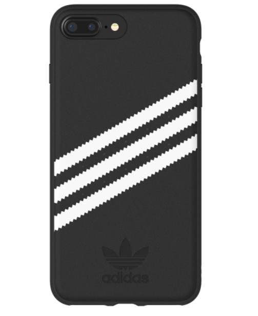 Adidas iPhone 8+ Moulded Back Phone Case Black-White