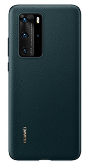 Huawei P40 Pro PU Phone Cover Green