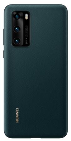 Huawei P40 PU Phone Cover Green