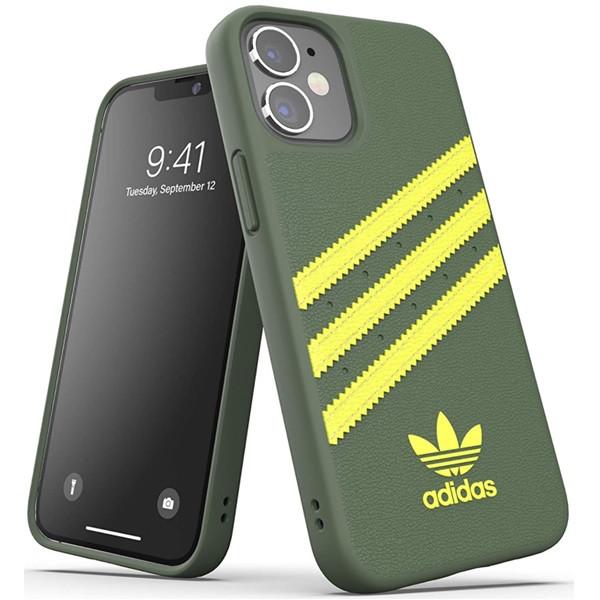 Adidas 3-Stripes Snap Case for iPhone 12 Mini Wild Pine/Acis Yellow