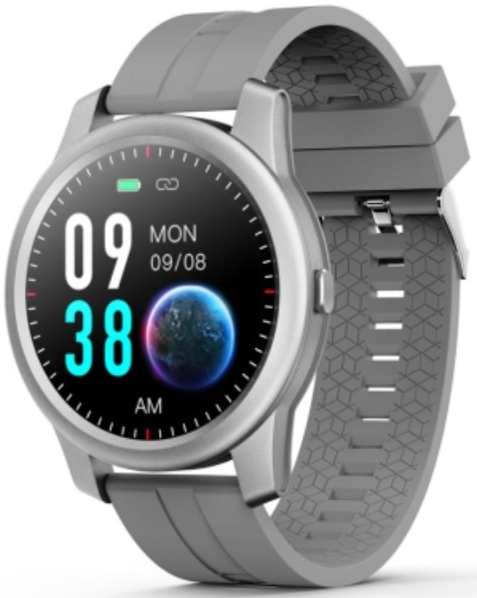 ELEPHONE R8 1.3 Waterproof Smart Watch Silver Case With Grey Strap