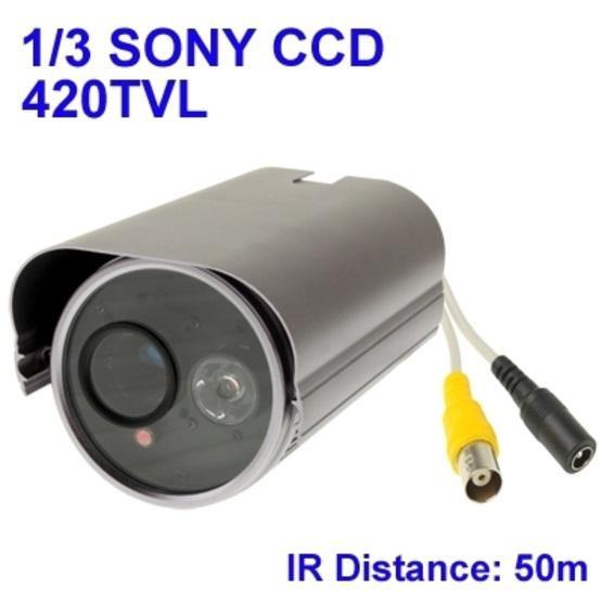 1 / 3 SONY 420TVL Digital Color Video CCTV Waterproof Camera, IR Distance: 50m