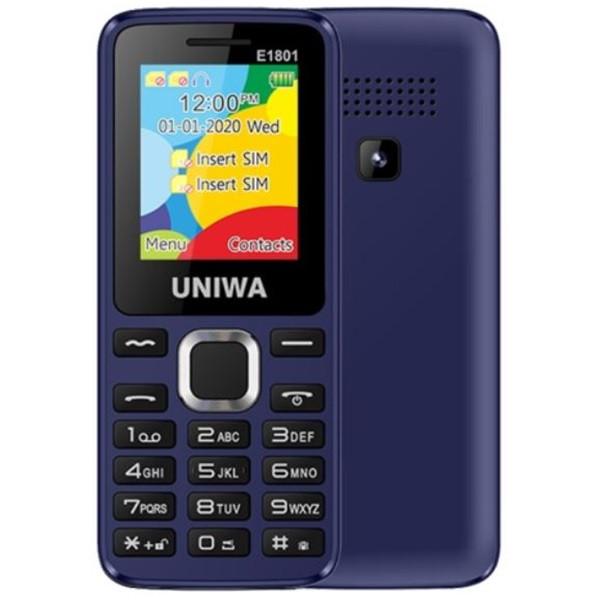 UNIWA E1801 2G Dual Sim Mobile Phone Blue