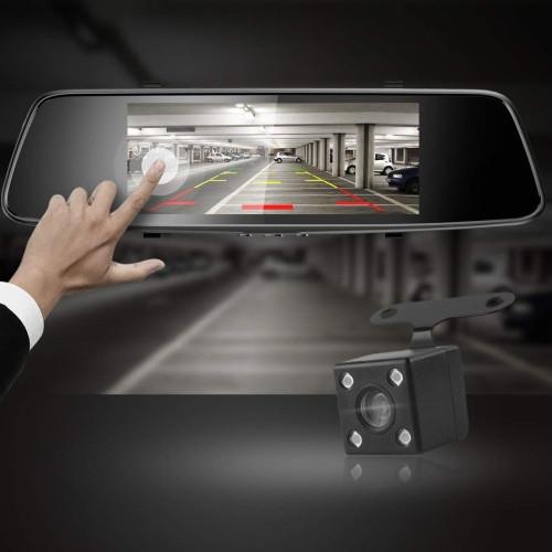 Car DVR - HAMTOD HG71 6.86 inch HD Dual Mirror