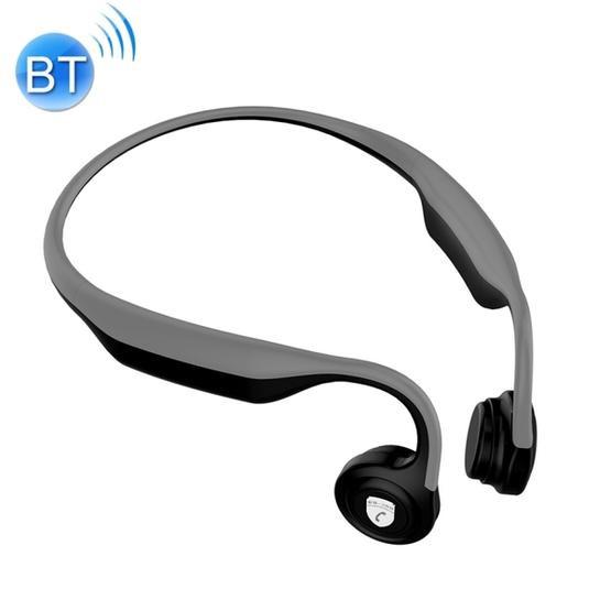 ES-368 Rear Hanging Bone Conduction Bluetooth 4.2 Waterproof Sports Headset(Light Grey)
