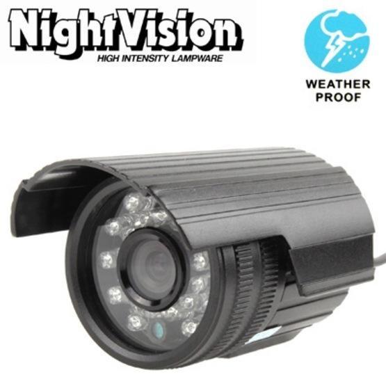 1 / 4 Sharp 420TVL 3.6mm Lens IR & Waterproof Mini Color CCD Video Camera, IR Distance: 30m
