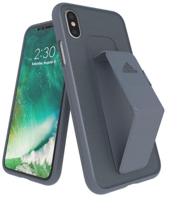 Adidas Iphone X Grip Back Phone Case Grey
