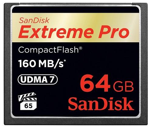 Sandisk 64GB Extreme Pro 160MB/s CF