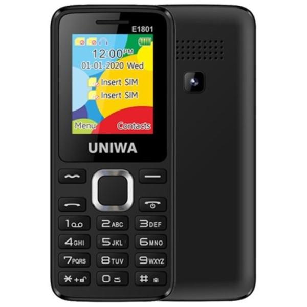 UNIWA E1801 2G Dual Sim Mobile Phone Black