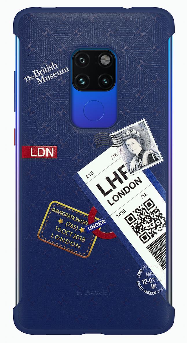 Huawei Mate 20 Travel Theme Phone Cover Blue фото