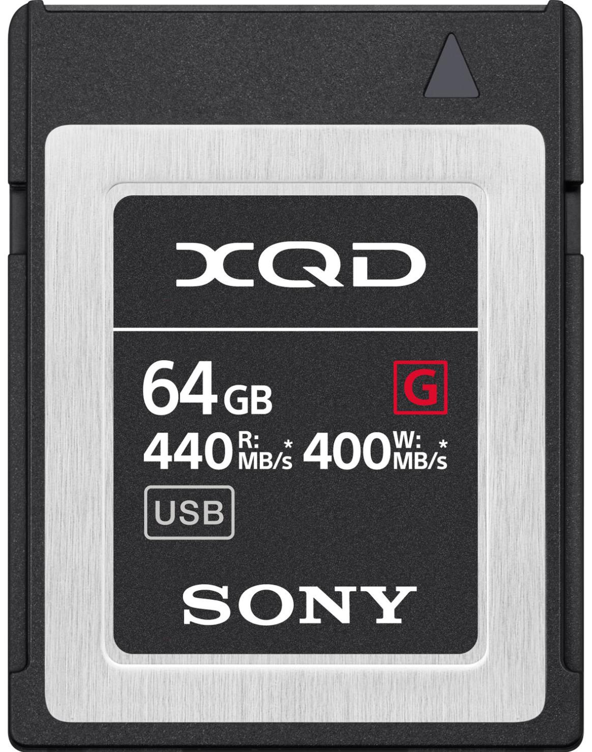 Sony 64GB XQD-G64F/J 440mb/s (Write 400mb/s)