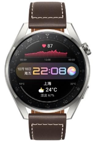 Huawei Watch 3 Pro 48mm GLL-AL01 Fashion Brown Leather Strap