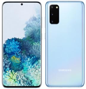 Samsung Galaxy S20 Dual Sim G980FD 128GB Blue (8GB RAM) + FREE Samsung Galaxy Clear View/LED Back Phone Cover (Black)
