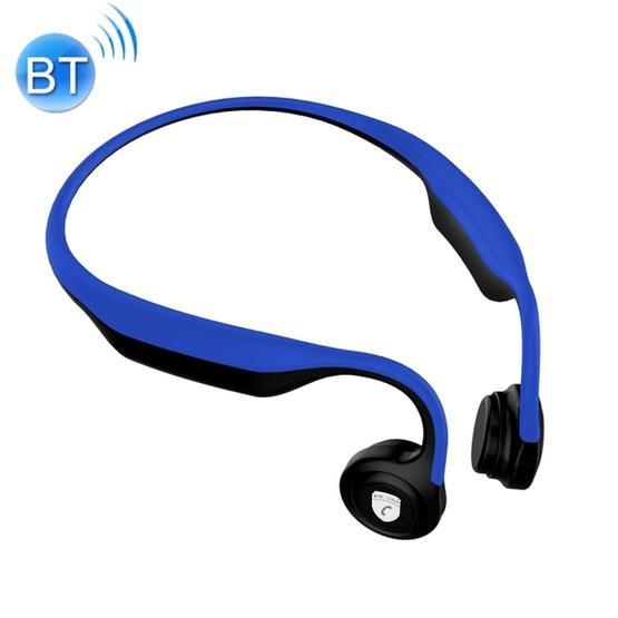 ES-368 Rear Hanging Bone Conduction Bluetooth 4.2 Waterproof Sports Headset(Dark Blue)