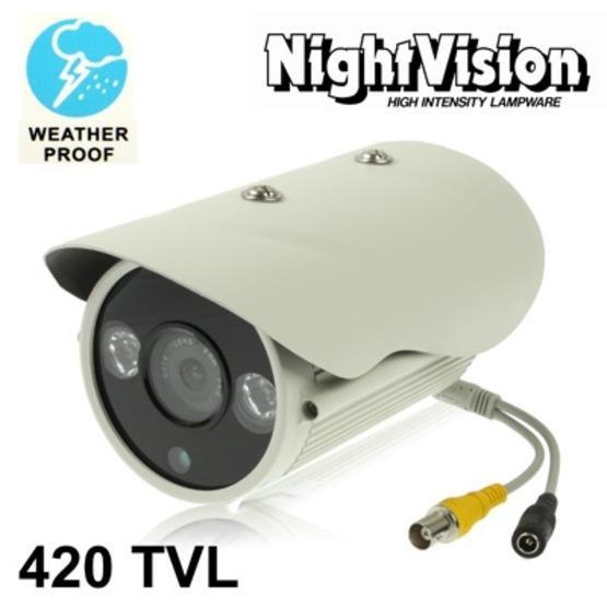 1 / 3 SONY 420TVL 8mm Lens Array IR & Waterproof Color Dome CCD Video Camera, IR Distance: 50m
