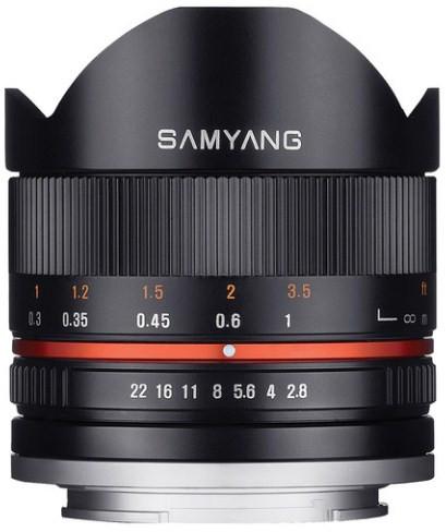 Samyang 8mm f/2.8 Fish-eye CS II Black (Fuji X)