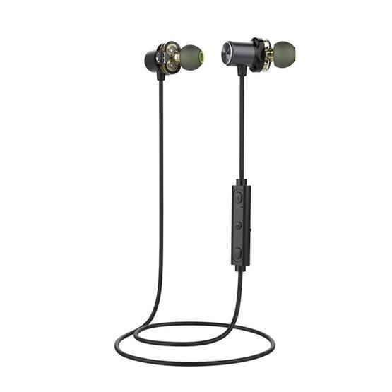 AWEI X650BL Sports Headset Wireless Bluetooth CSR4.1 Neckband Stereo Earphone with Mic (Grey)
