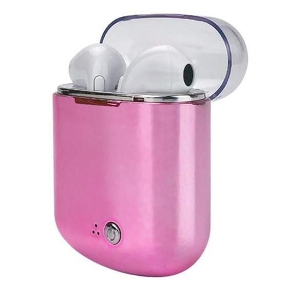 I7s Binaural Wireless Bluetooth TWS Earphone with Charging Bin Plating (Pink)