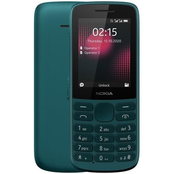 Nokia 215 4G Dual Sim 128MB Cyan (64MB RAM)