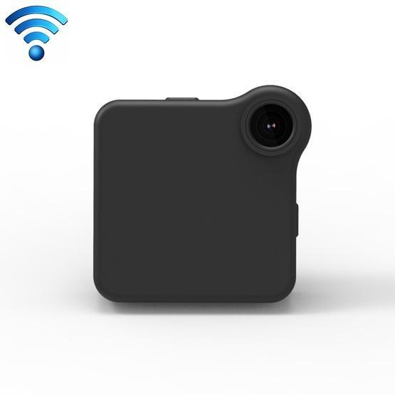 CAMSOY C1+ HD 720P 140 Degree Wide Angle Portable Sports Shape Wireless Intelligent Network Surveillance Camera(Black)