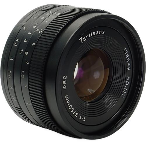 7Artisans 50mm F1.8 APS-C (Canon M) Black