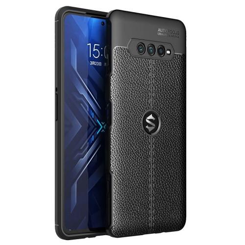 Litchi Texture TPU Shockproof Case for Xiaomi Black Shark 4 (Black)