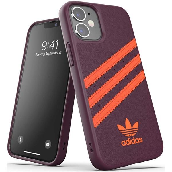 Adidas 3-Stripes Snap Case for iPhone 12 Mini Maroon/Solar Orange