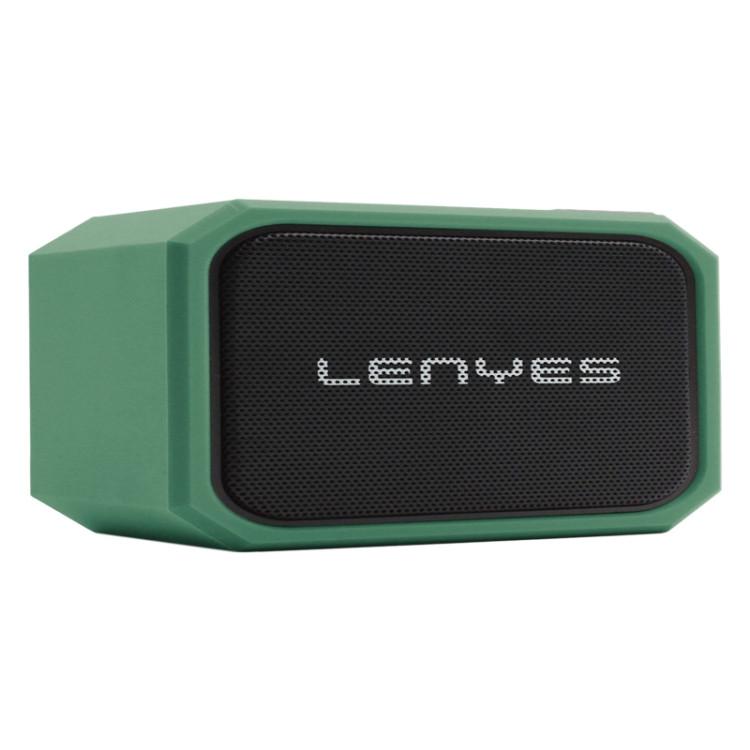 Lenyes S107 20W IPX7 Waterproof HiFi Bass Wireless Bluetooth Speaker (Green)
