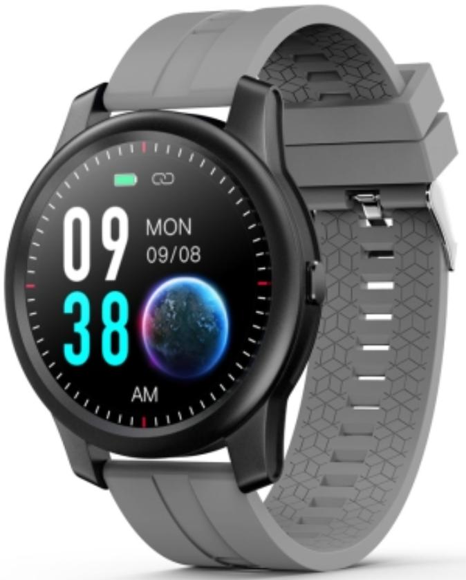 ELEPHONE R8 1.3 Waterproof Smart Watch Black Case With Grey Strap