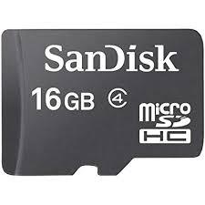 Sandisk 16GB T-Flash/Micro SD (Class 4)