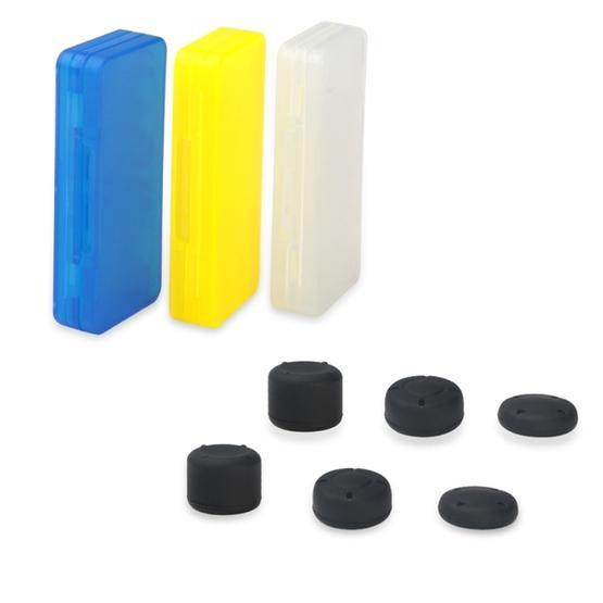 DOBE TNS-1846 2 in 1 Card Storage Box + Mushroom Caps Kits for Nintendo Switch