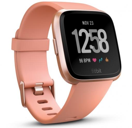 Fitbit Versa Peach, Rose Gold Aluminium,CJK