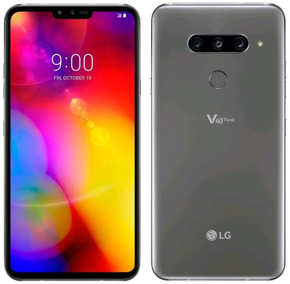 LG V40 ThinQ V405EBW Dual Sim 128GB Platinum Gray (6GB RAM) фото