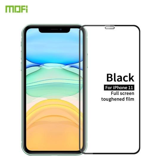 For iPhone 11 MOFI 9H 2.5D Full Screen Tempered Glass Film(Black)