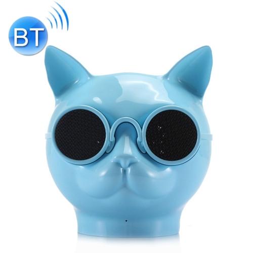 Mini Cat Shape Stereo Wireless Bluetooth Speaker (Blue)