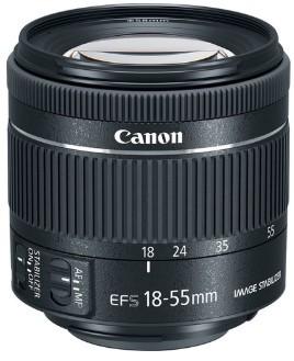 Canon EF-S 18-55mm F4-5.6 IS STM (kit lens)
