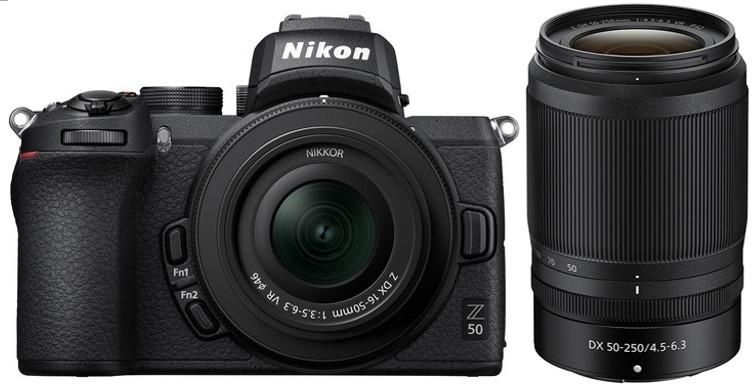 Nikon Z50 Twin Kit (NIKKOR 16-50mm f/3.5-6.3 VR) (NIKKOR 50-250mm F/4.5-6.3 VR)