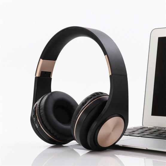 A1 Bluetooth 4.2 Candy Color Super Base Bluetooth Headphone (Black)