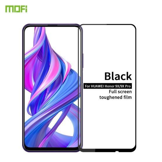 MOFI 9H 2.5D Full Screen Tempered Glass Film for Huawei Honor 9X / Honor 9X Pro(Black)