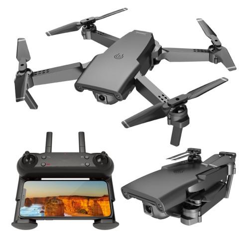 Mini Foldable Aerial Drone HD Aircraft (Light Black) - Version 720P