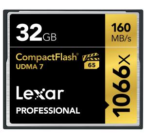 Lexar 32GB Professional 1066x CF (UDMA 7)
